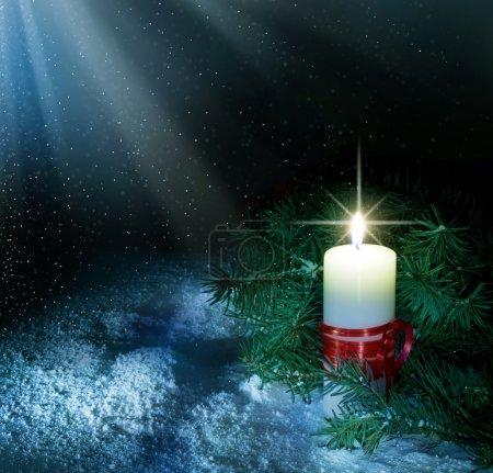圣诞蜡烛_高清图片_邑石网